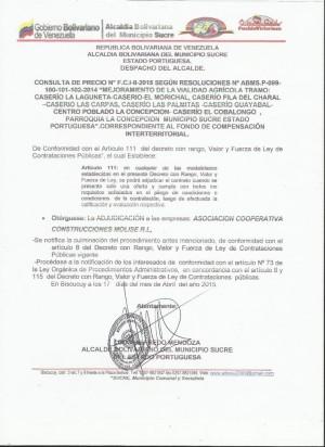 ADJUDICACION  II FCI CONSULTA