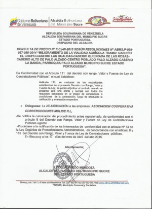 ADJUDICACION    III FCI CONSULTA