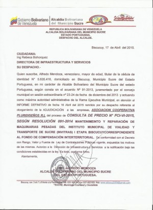 ADJUDICACION VI FCI CONSULTA