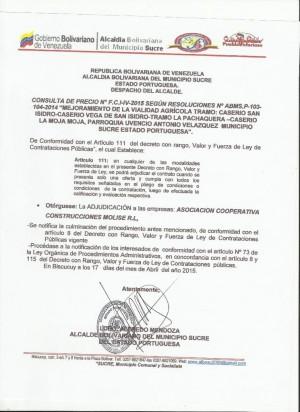 ADJUDICACON   IV FCI CONSULTA