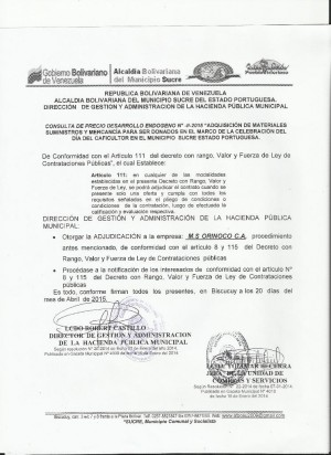 NOTIFICACION II DESARROLLO ENDOGENO