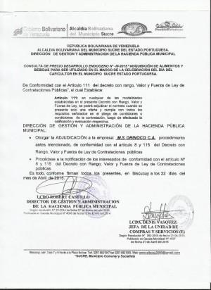 NOTIFICACION  III  DESARROLLO ENDOGENO