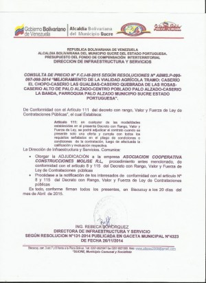 NOTIFICACION   III FCI CONSULTA