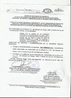 NOTIFICACION   IV  DESARROLLO ENDOGENO