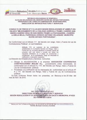 NOTIFICACION   IV FCI CONSULTA