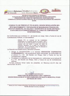 NOTIFICACION  VI FCI CONSULTA