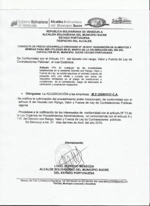 adjudicacion  III  DESARROLLO ENDOGENO