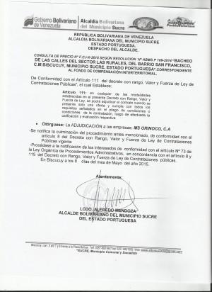 ADJUDICACION  X FCI CONSULTA