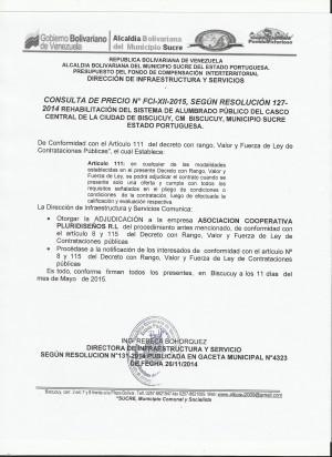 NOTIFICACION  XII FCI CONSULTA
