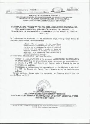 NOTIFICACION XIII FCI CONSULTA