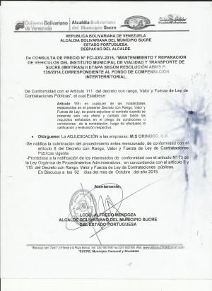 ADJUDICACION XXV VEHICULO