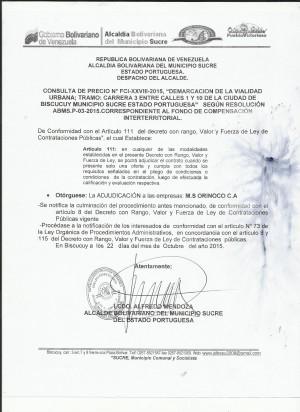 ADJUDICACION XXVIII DEMARCACION 3