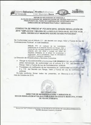 NOTIFICACION XXVI ELECTRICIDAD
