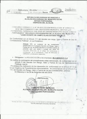 CONCURSO CERRADO VERTEDERO