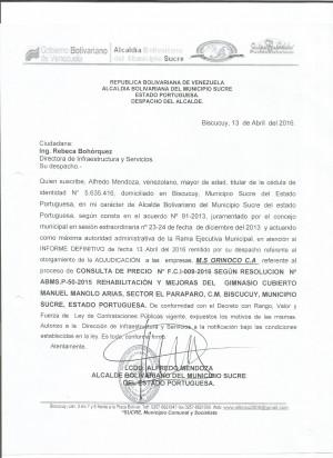 GIMNASIO FCI N° 009