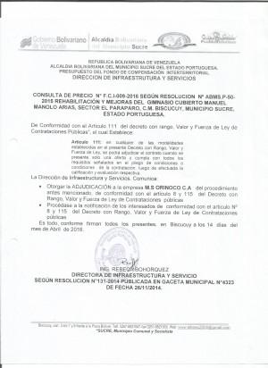 GIMNASIO FCI N° 009.