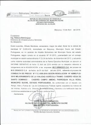 VEGA DE SANTO DOMINGO FCI N° 008